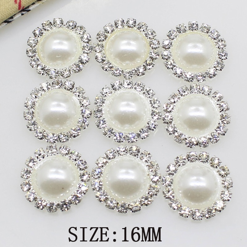 AliExpress - High-grade simple 10 pieces 16mm Diy wholesale price crystal pearl wedding jewelry accessories rhinestone crafts exquisite produ