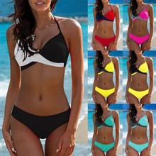 Bikinis 2020 mujer Womens Padded Push-up Bra brazilian Bikini Set Swimsuit Bathing Suit Swimwear Beachwear Dropping Biquini New