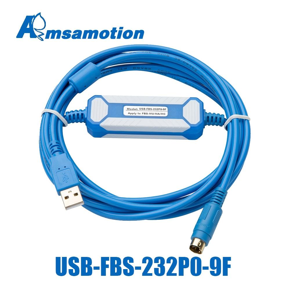 USB-FBS-232P0-9F مناسبة Fatek FBS FB1Z B1 سلسلة PLC مطلية بالذهب واجهة البرمجة كابل USB النسخة إلى RS232 محول