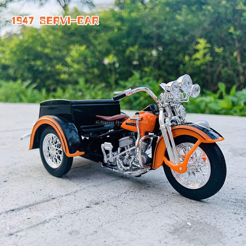 Модель трехколесного мотоцикла Maisto 1:18 1947 SERVI-CAR, коллекция автомобилей из литья под давлением, хобби, модель автомобиля, игрушка