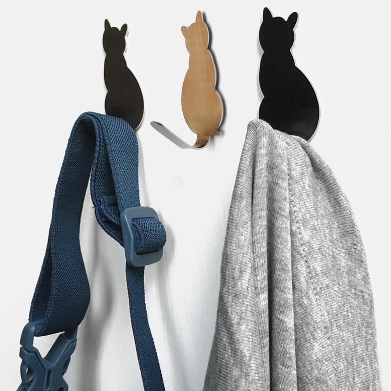 2 stks kat patroon zelfklevende haken opslag houder voor badkamer en - Home opslag en organisatie - Foto 4