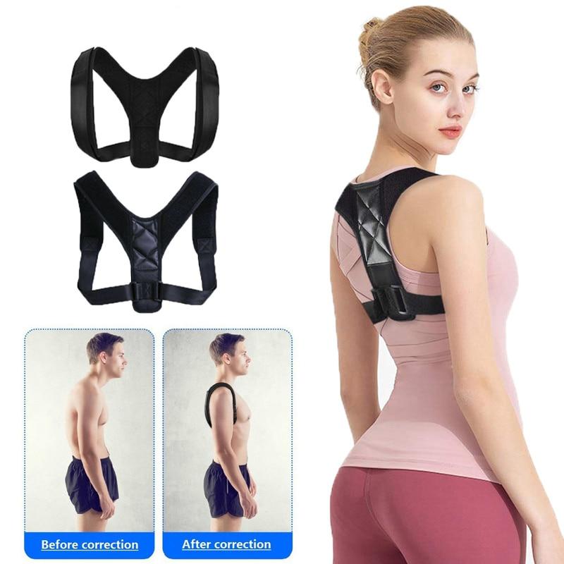 Medical Adjustable Clavicle Posture Corrector Men Woemen Upper Back Brace Shoulder Lumbar Support Be
