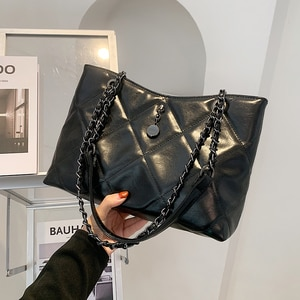 Lattice Large Armpit bag 2021 Fashion New High Quality PU Leather Women's Designer Handbag High Capacity Shoulder Messenger Bag