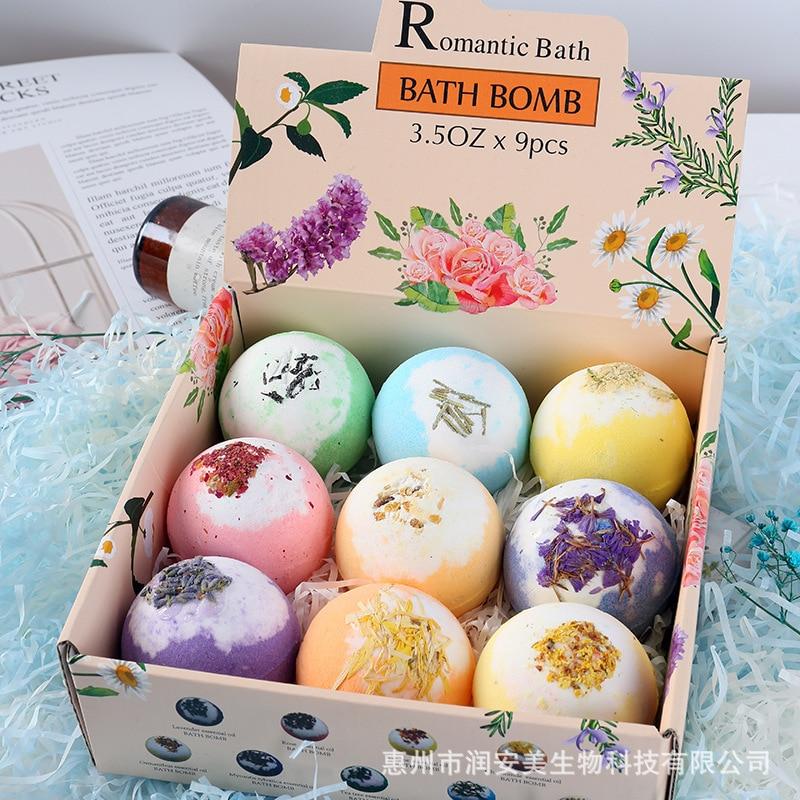 Сухой цветочный соляный шар для ванны, мяч для ванны с эфирным маслом, взрывной соляный шар для ванны, соляный шар для ванны, бомбочка для ван...