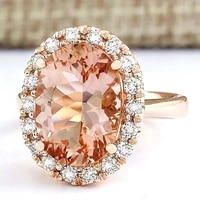 luxury oval gemstones champagne crystal zircon diamonds rings for women 18k rose gold color jewelry bijoux bague party accessory