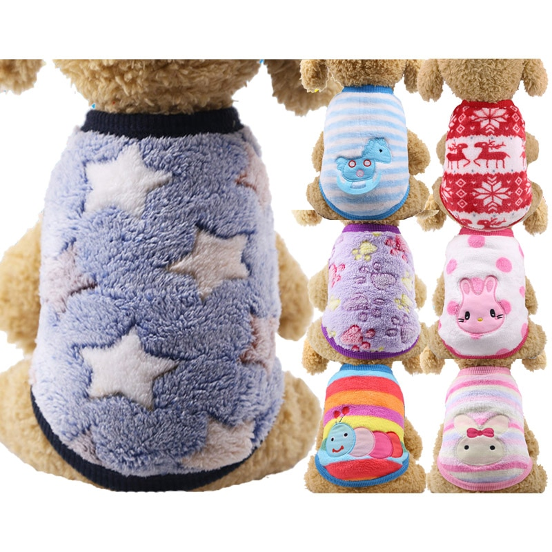 AliExpress - pawstrip Small Dog Clothes Warm Winter Dog Coat Cotton Fleece Puppy Clothes Puppy Vest Clothing French Bulldog Chihuahua  XXS-XL