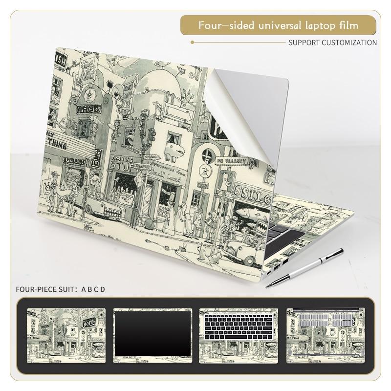 Cubierta Retro para portátil, pegatinas de PVC para Macbook/HP/ Lenovo/ Acer/ASUS, bricolaje,...