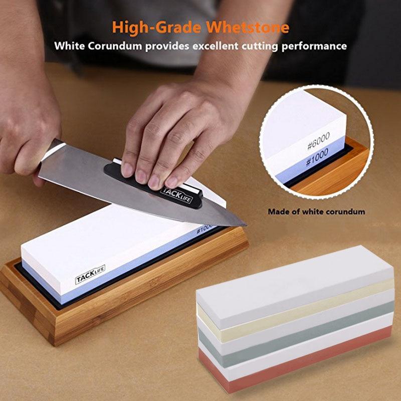 Afiador de faca 2-em-1 240 600, pedra para afiar faca, utensílio de cozinha, pedra para amolar faca 1000 3000 #1