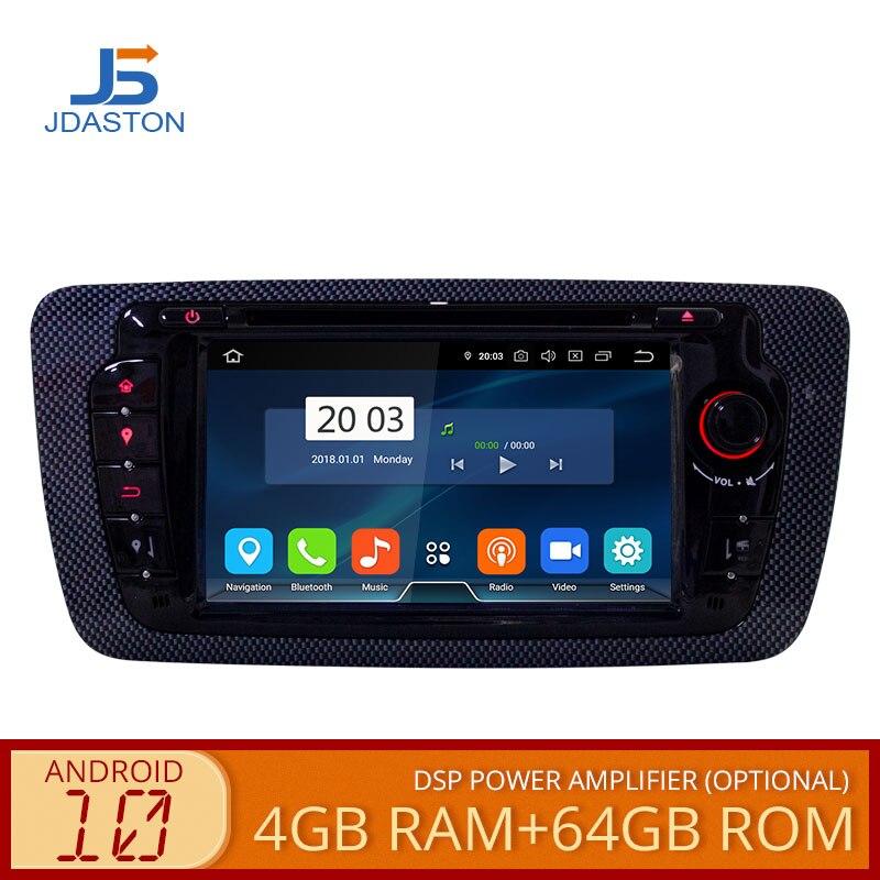 JDASTON-راديو السيارة متعدد الوسائط Android 10.0 ، 4 جيجابايت/64 جيجابايت ، ملاحة GPS ، مشغل DVD ، ثماني النواة ، ستيريو ، لمقعد إيبيزا (2012 ، 2013 ، 2014 ، 2015)