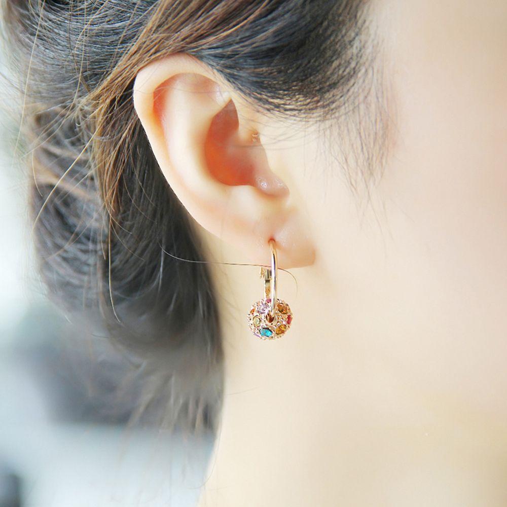 Naušnice modni nakit naušnice od kristalne kuglice dame za - Modni nakit - Foto 3