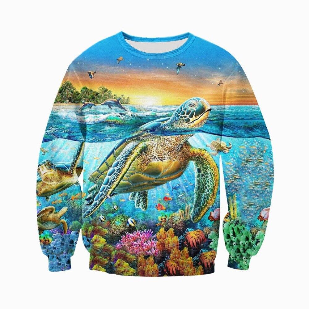 Толстовки с 3D-принтом черепахи, новые модные толстовки унисекс, повседневные толстовки на молнии в стиле Харадзюку DWY023