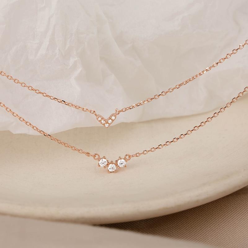 [Miss Z]-collar de doble capa para mujer, cadena exquisita para clavícula, collar...