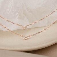 [Miss Z] Double-Layer Necklace 2021 New Women\'s Clavicle Chain Exquisite Necklace Women Niche Design Necklace