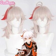Genshin Impact Kazuha Cosplay 36cm Short Wig Cosplay Anime Cosplay Wigs Heat Resistant Synthetic Wig