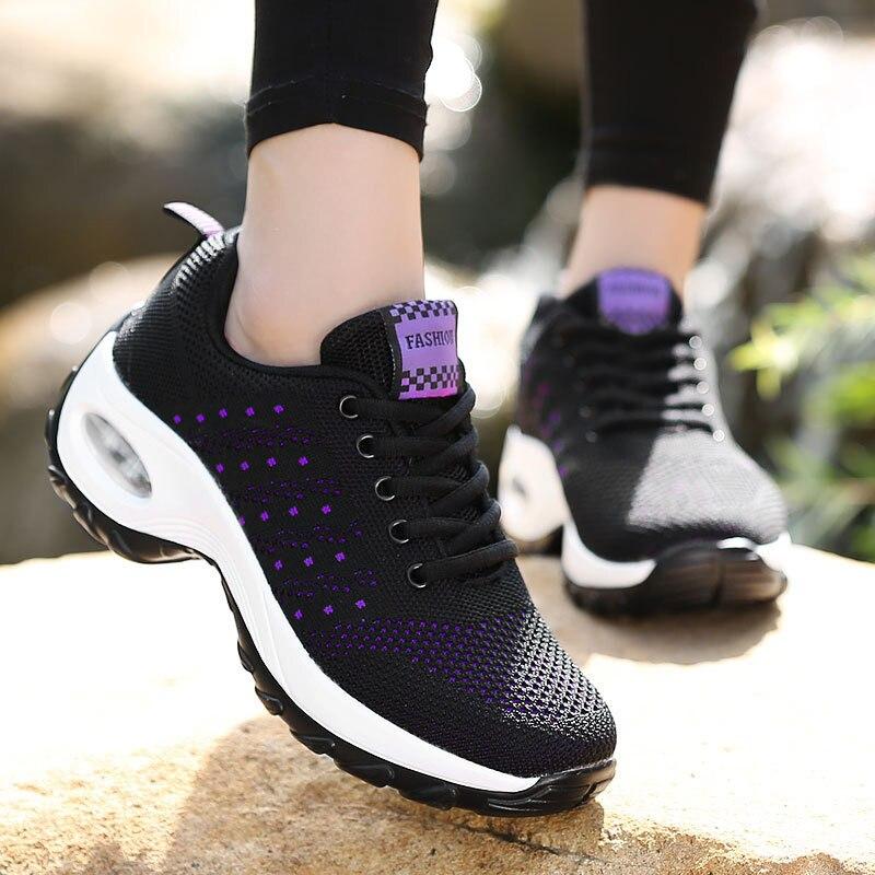 Женские кроссовки 2021, дышащая сетчатая повседневная обувь, женские теннисные кроссовки, спортивная обувь, женские модные кроссовки на шнур...