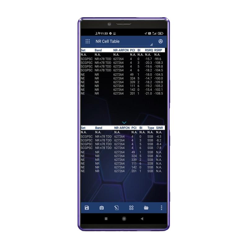هاتف Nemo سهل الاستخدام X1 J9110 يدعم محرك الأقراص GSM HSPA LTE قياسات NR لاختبار Nemo في الهواء الطلق