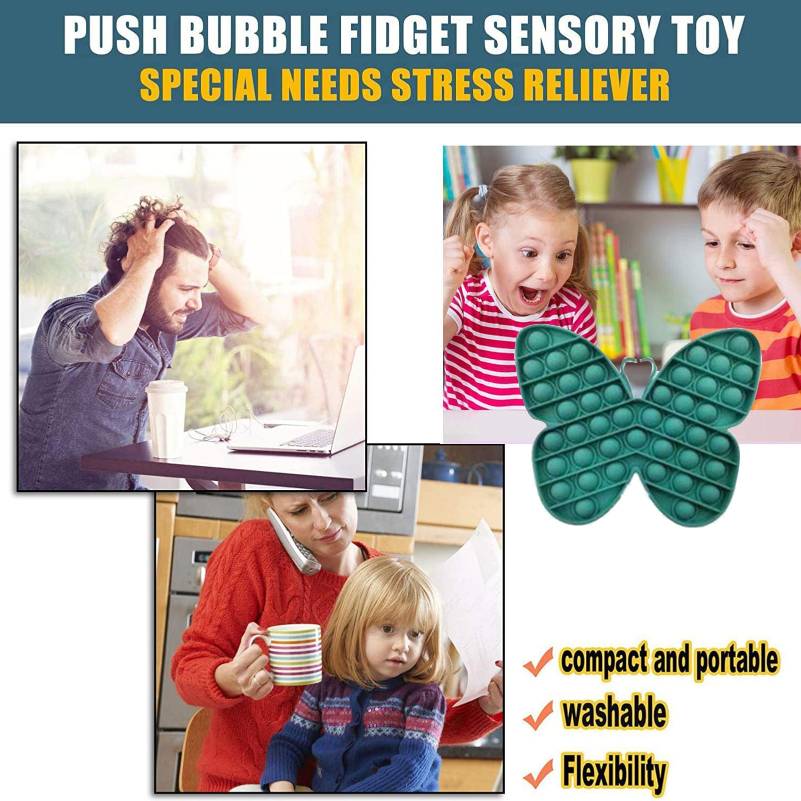 NEW Fidget Toys Antistress Decompression Sensory Toy Set Stress Relief Simple Dimple Hand Toy For Children Kids Adults Gifts enlarge