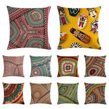 Housse de coussin à rayures de couleur   Nouvelle collection, masque, couleur assortie, housse de lin, canapé, mode, décoration de la maison, 45x45