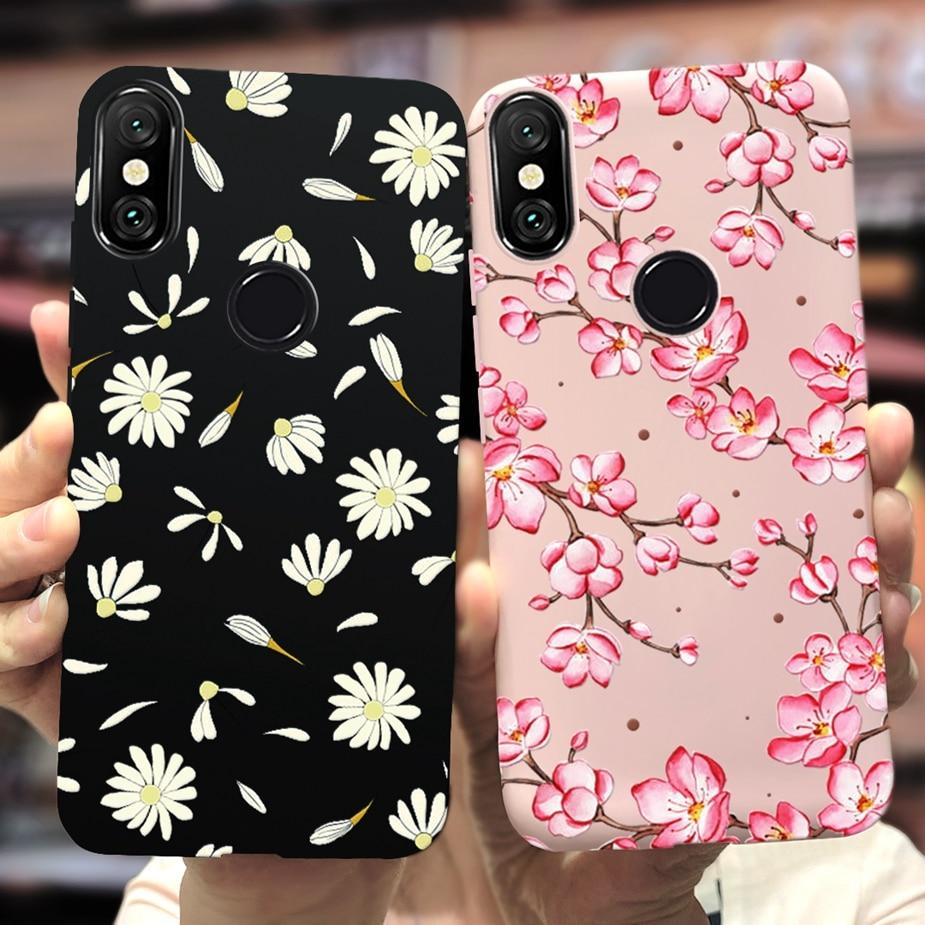 For Xaiomi Mi 8 Pro Case Mi8 Lite Soft Silicone Colorful Flowers Phone Cases For Xiaomi Mi 8 Lite Mi