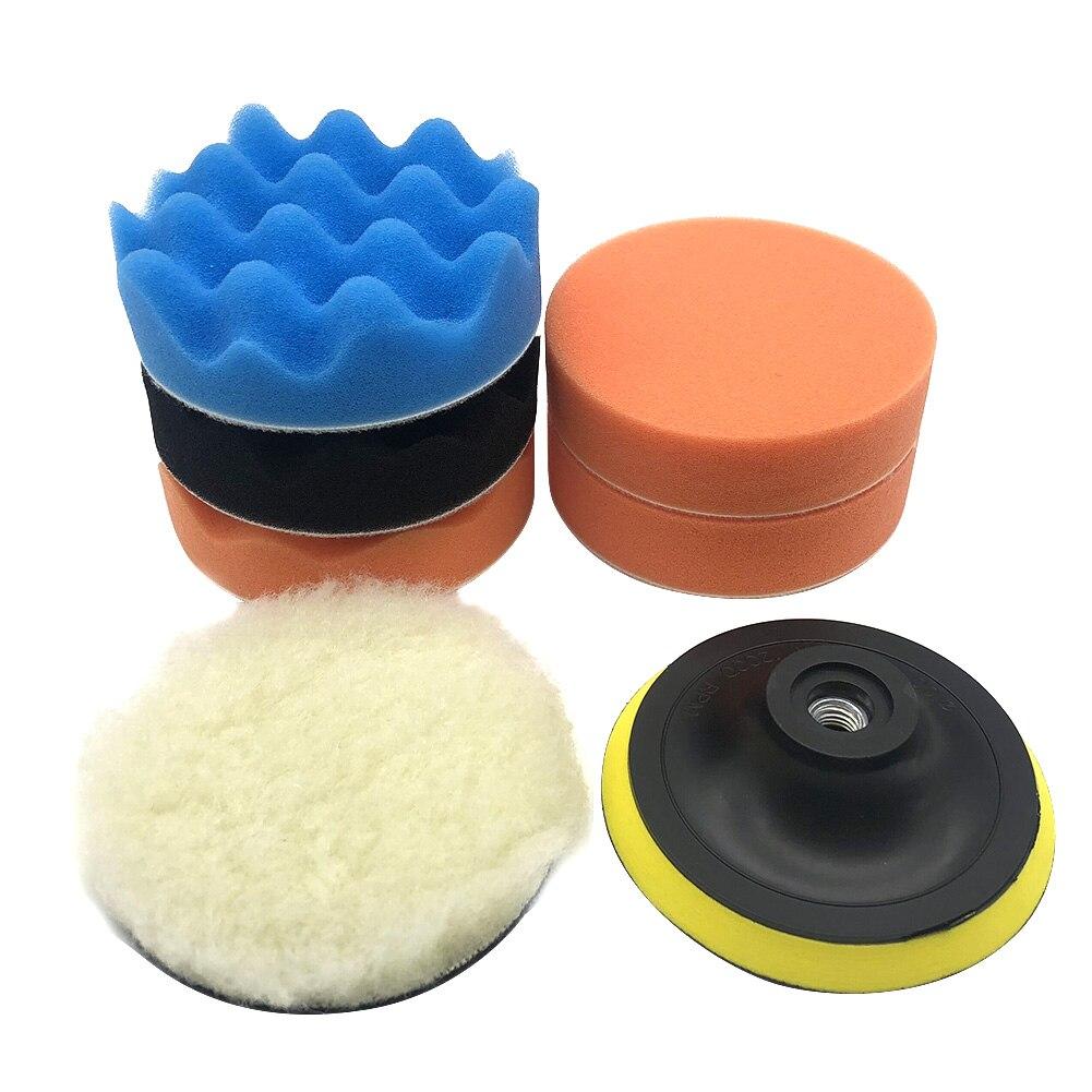 Kit de tampon de polissage de voiture de 5 pouces Design pratique et convivial avec adaptateur de perceuse M14 pour accessoires de polisseuse de voiture