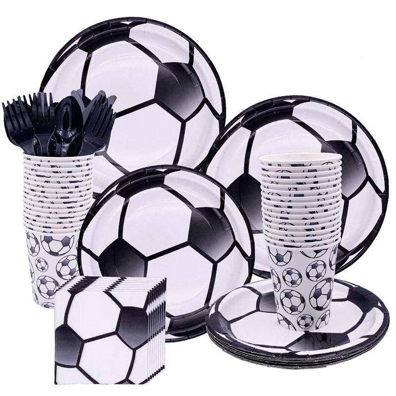 Liviorap Футбол вечерние украшения одноразовая посуда Футбол вечерние поставки посуда с днем рождения декора подарки для детей