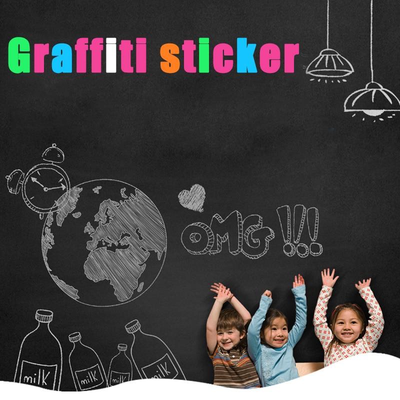 Wall Sticker Whiteboard Self-adhesive Blackboard Removable Chalkboard Message Note White Board for Kids Painting School Office