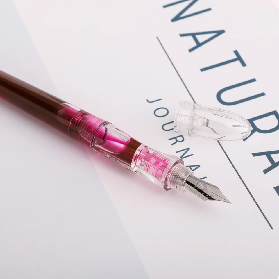 Фото - Clear Transparent Fountain Pen Eyedrop Ink pen EF/Fine Nib Optional Business Stationery Office school supplies Writing Gift rescue ink rescue ink