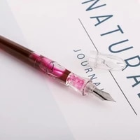 clear transparent fountain pen eyedrop ink pen effine nib optional business stationery office school supplies writing gift