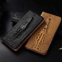 cowhide genuine leather case for lg k30 v35 k50 k40s v50 v40 v30 v20 q60 v50s thinq luxury crocodile head texture flip cover
