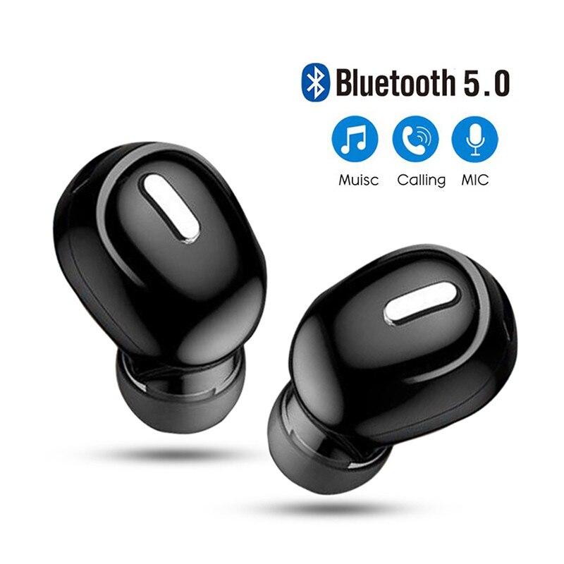 Mini In-Ear Wireless Bluetooth 5.0 Earphone HiFi Headset Mic Sports Earbuds Handsfree Earphones For Xiaomi Samsung Iphone 2021