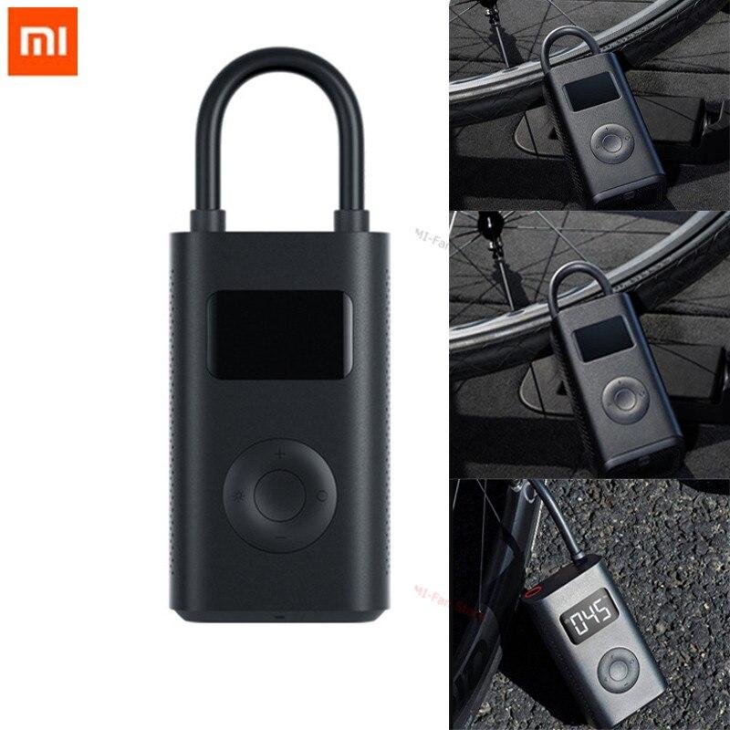 Original Xiaomi Mijia portátil inteligente Digital neumático detección de presión Bomba De inflador eléctrico para bicicleta motocicleta coche fútbol