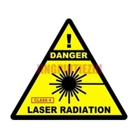 car stickers vinyl motorcycle decal car window body decorative danger laser radiation triangle laptop personality car stickers