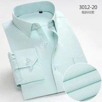 2021 summer new men long sleeve iron free professional shirt is the bank clerk tooling business casual clothing
