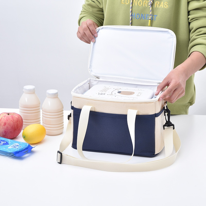 8L High-Capacity Lunch Bag Waterproof Oxford Cloth Food Preservation Insulation Thermal Cooler Tote Portable Storage Handbags
