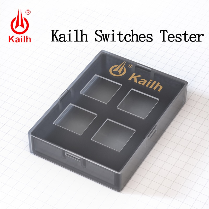Kailh 4 switches tester 2X2 Testing Tool with Dark grey PC base for MX mechanical switches