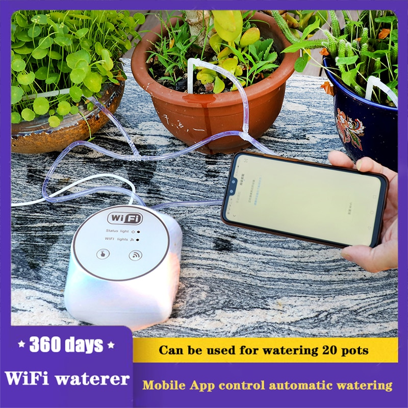Garden Wifi Control Watering Device Automatic Drip Irrigation System Set Home Smart Plant Irrigation