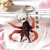 japanese anime tokyo ghoul pendants keychains cartoon figure kaneziki car key chains holder best friend graduation gift
