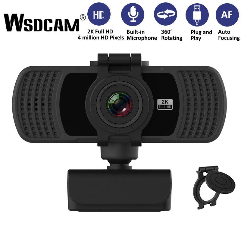 Wsdcam-cámara Web HD 1080P 2K para ordenador, Webcam con micrófono para transmisión...