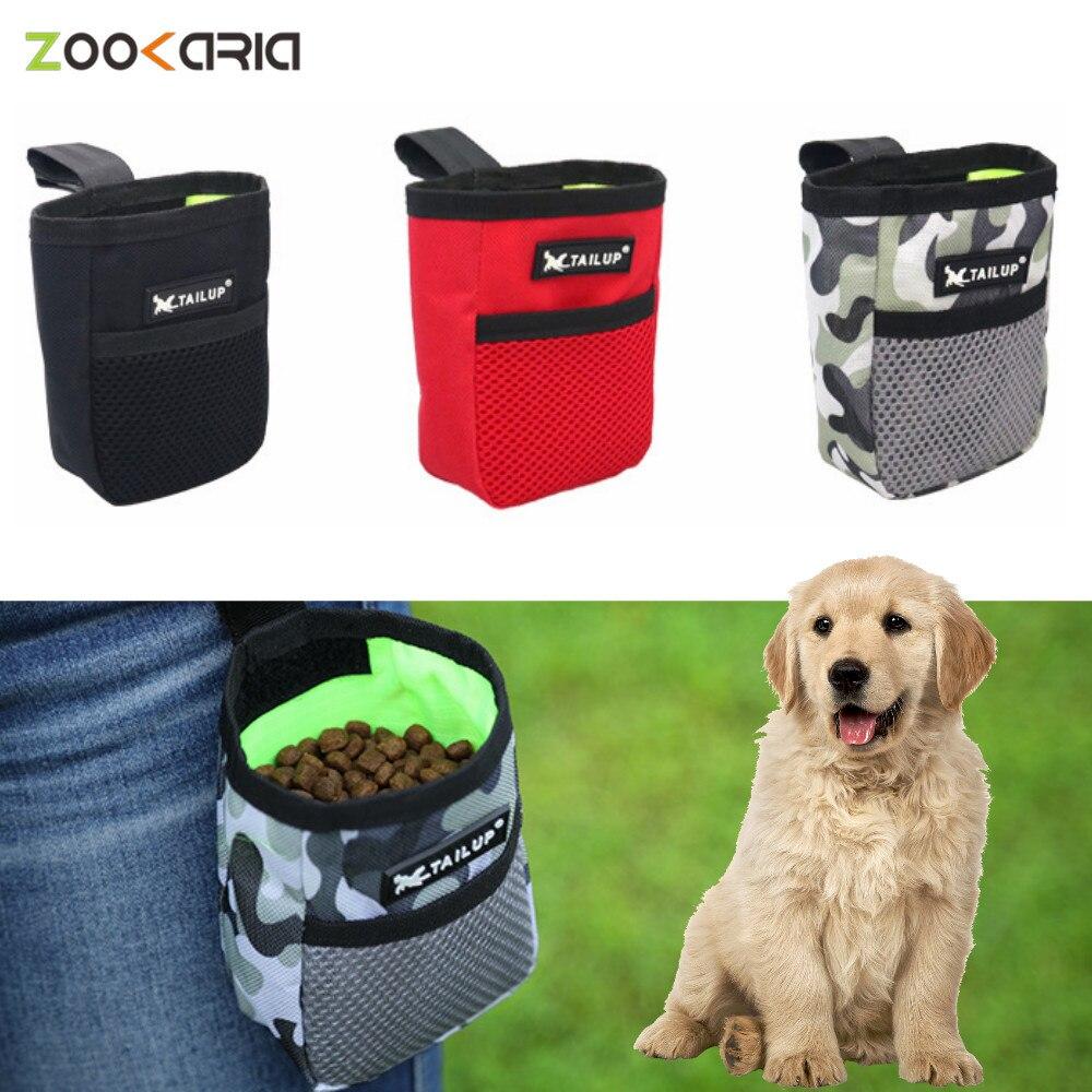 Mini bolsa para entrenamiento portátil al aire libre, Snack para perros, suministros para mascotas, resistente al desgaste, gran capacidad, Snack para cachorros, bolsa de cintura de recompensa
