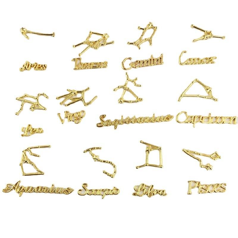 24pcs/set 12 Constellation Letters Symbols Sets Connector For Jewelry Making Accessories DIY Handmade Bracelet Pendant Supplies