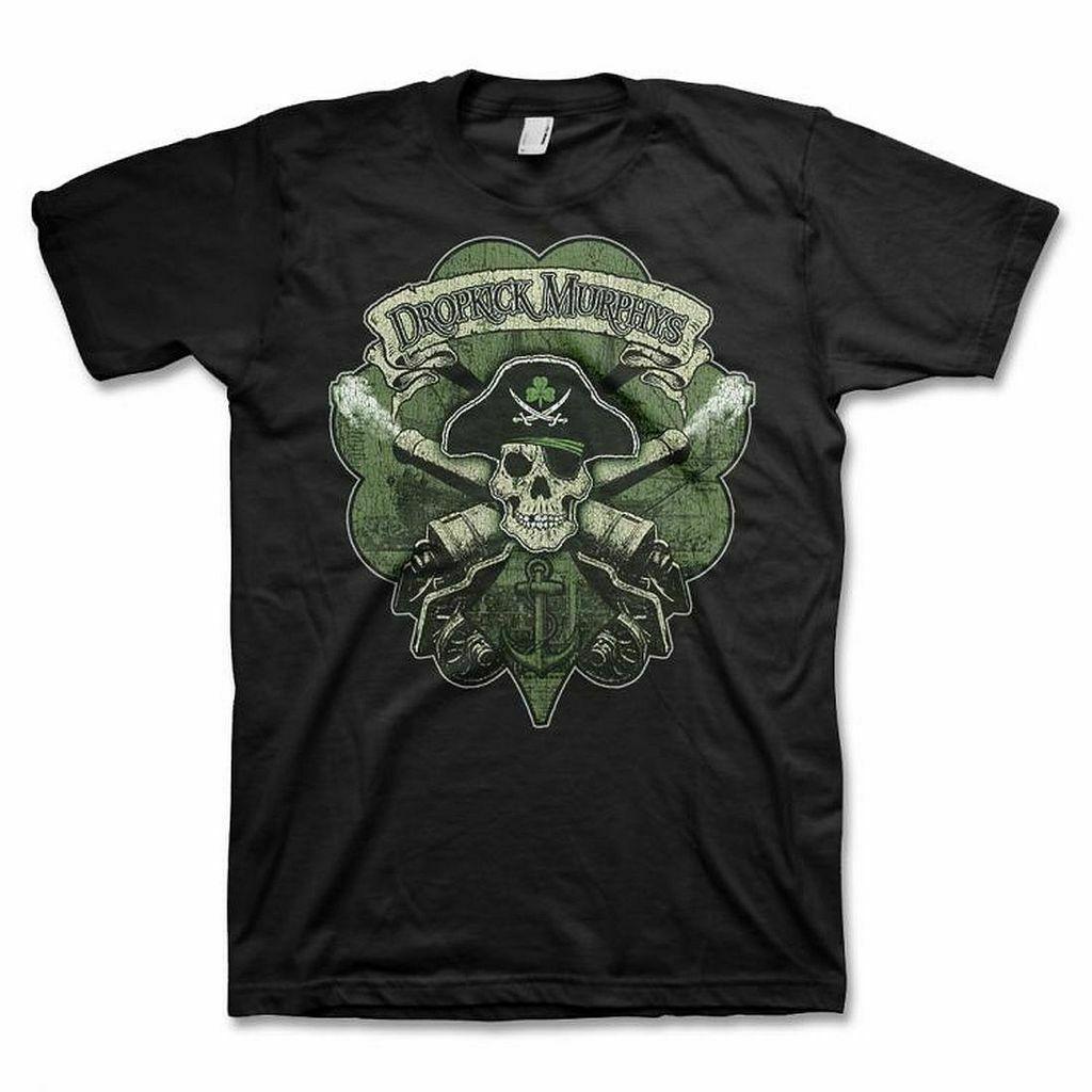 Camiseta DROPKICK para hombres Harajuku MURPHYS calavera Cannon, camiseta negra para hombre SM, MD, LG, XL, XXL nueva