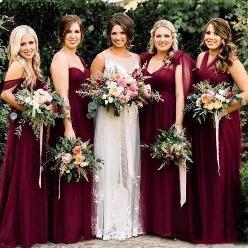 Vestido largo de tul para dama de honor, vestido de boda de...