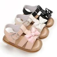 newborn infant baby girls sandals prewalker non slip hollow princess summer lace pu leather shoes 0 18m