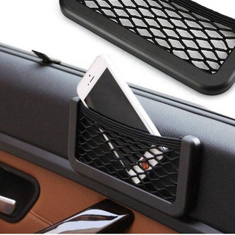 Автомобильная сумка для хранения автомобильные задние стоп сигналы, сетка для сиденья Органайзер интерьерные аксессуары Стикеры сетчатая ...