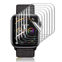 Film For Apple Watch 6 SE iWatch 40mm 44mm Screen Protector Series 5 4 TPU Clear Film Coverage Bubble-Free Anti-Scratch case
