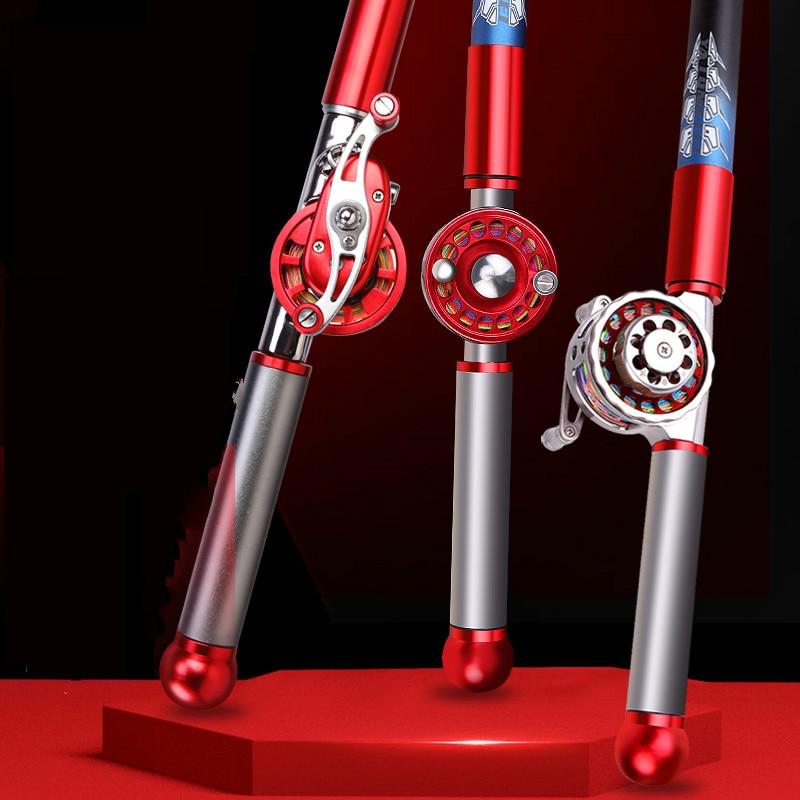 Hollow Rod Multi-purpose Positioning Short Section Fishing Sticks Pesca Hand Olta 28 Tonalty Fishing Pole with Wheel 4.5m-8.0 M enlarge