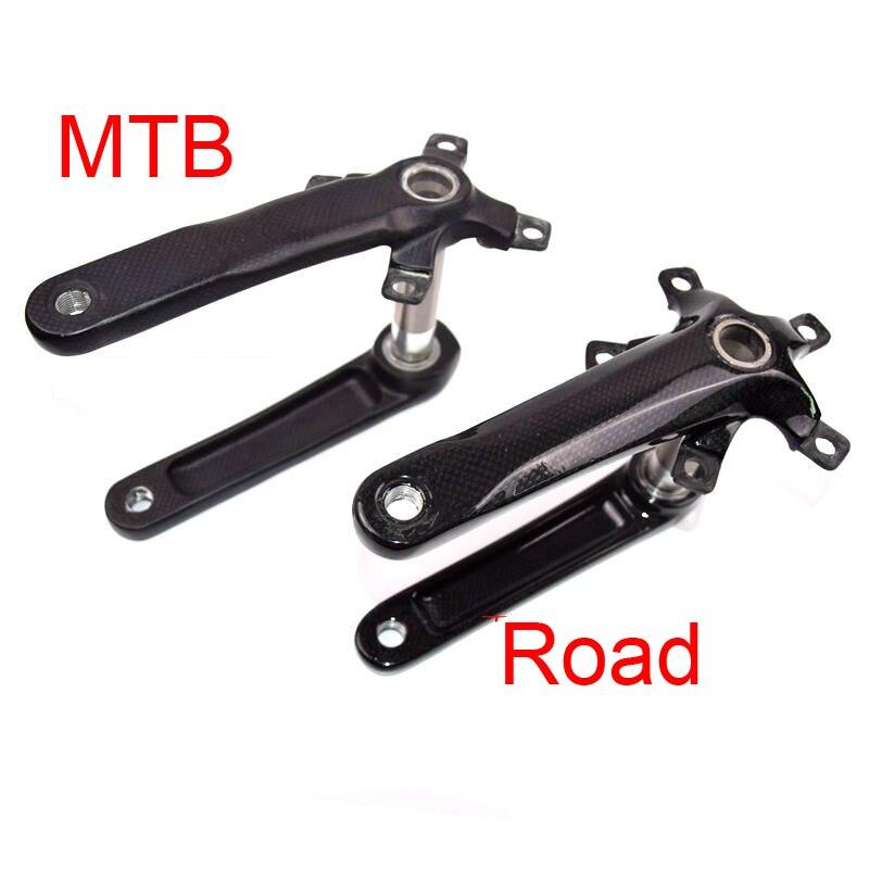 Nuevo Producto bicicleta de montaña y carretera 3K, manivela de bicicleta de fibra de carbono con eje inferior de aleación de 170/175mm, piezas de MTB, envío gratis