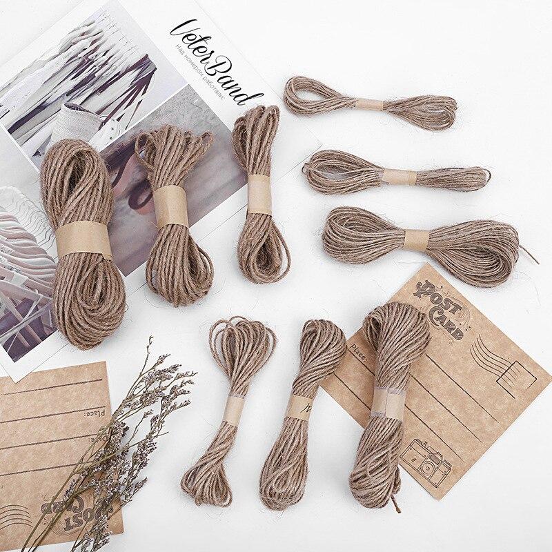 2 шт. плетеная декоративная пеньковая веревка, ручная работа, аксессуары для украшения дома, Плетеный джутовый шнур