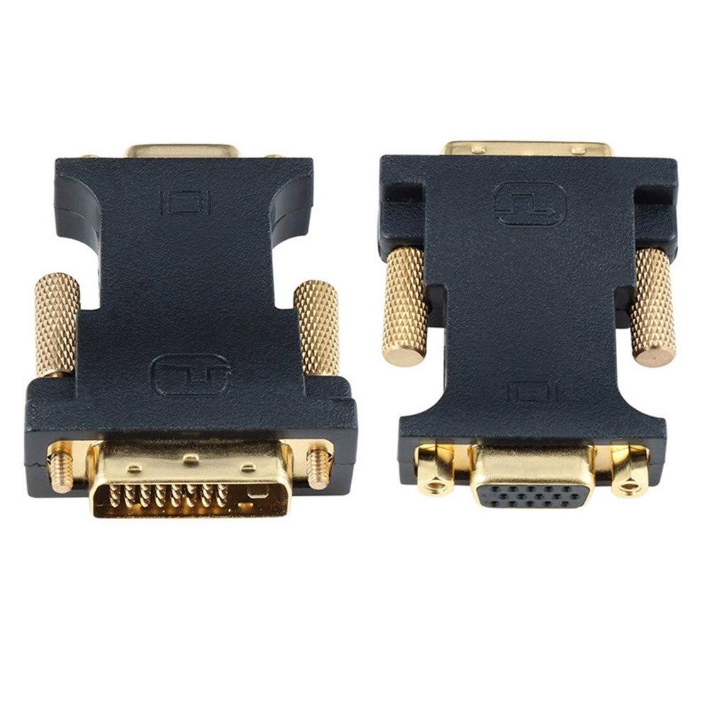 DVI-D 24 + 1 macho a VGA 15Pin HDTV Monitor con entrada hembra adaptador conector Cable plano JHP-mejor