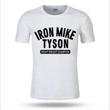 Bmm novo camisa masculina t ferro mike tyson caixa letras logotipo imprimir topos camisetas legal tamanho grande camiseta